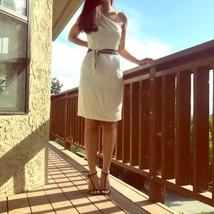 Miguelina white silk dress new with tag